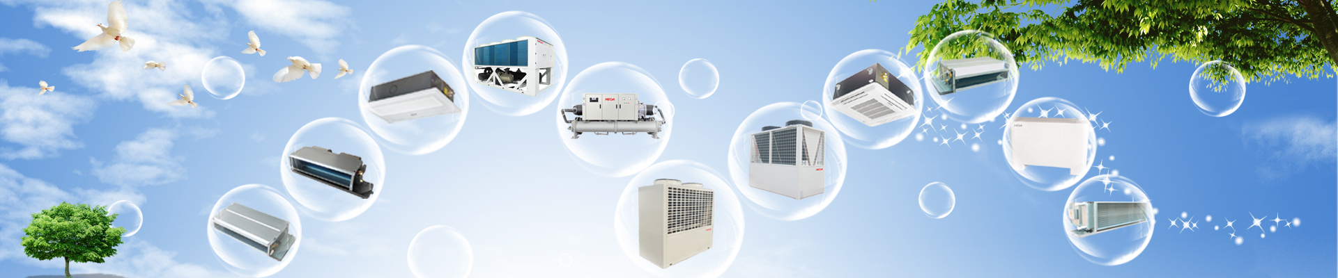 HVAC air conditioning chiller fan coil unit